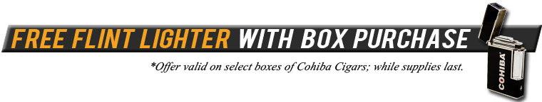 Free Cohiba Flint Lighter with Box Purchase